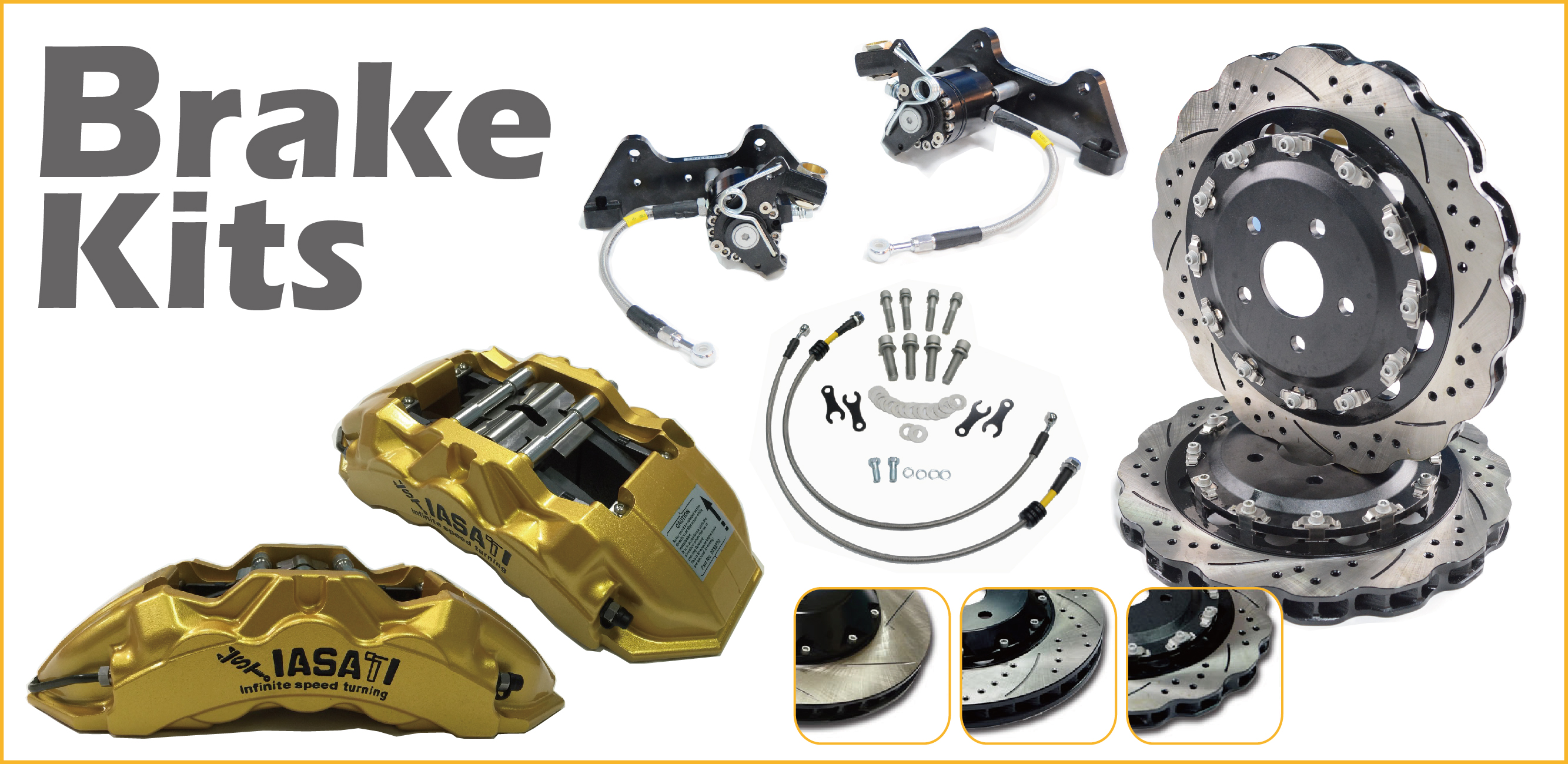 IASATI - automotive brake system kits - caliper, brake disc, brake pad